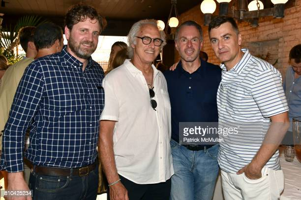 Brian Lebford Eric Fischl Devin Wenig and Euan Rellie attend eBay Hosts July 4th Benefit for Sag Harbor Cinema Restoration Project at Lulu Kitchen...