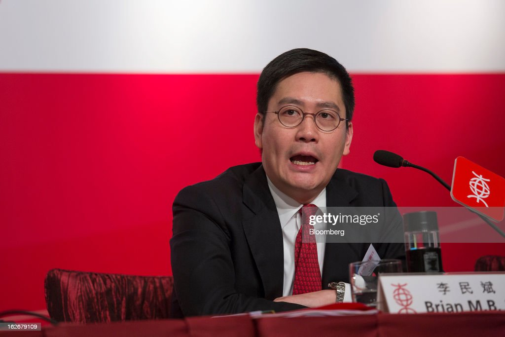 Brian Li, deputy chief executive officer of Bank of East Asia Ltd. (BEA), speaks during the company's annual results news conference in Hong Kong, China, on Tuesday, Feb. 26, 2013. Bank of East Asia, Hong Kong's largest family-run lender, said 2012 profit jumped 39 percent as trading income climbed, helping offset a decline in profit from the mainland China business. Photographer: Jerome Favre/Bloomberg via Getty Images