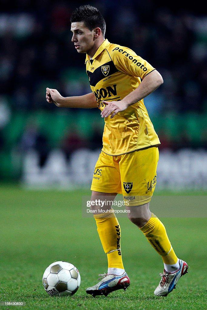 Brian Linssen of Venlo in action during the Eredivisie match between FC Groningen and VVV Venlo at the Euroborg Stadium on December 15, 2012 in Groningen, Netherlands.