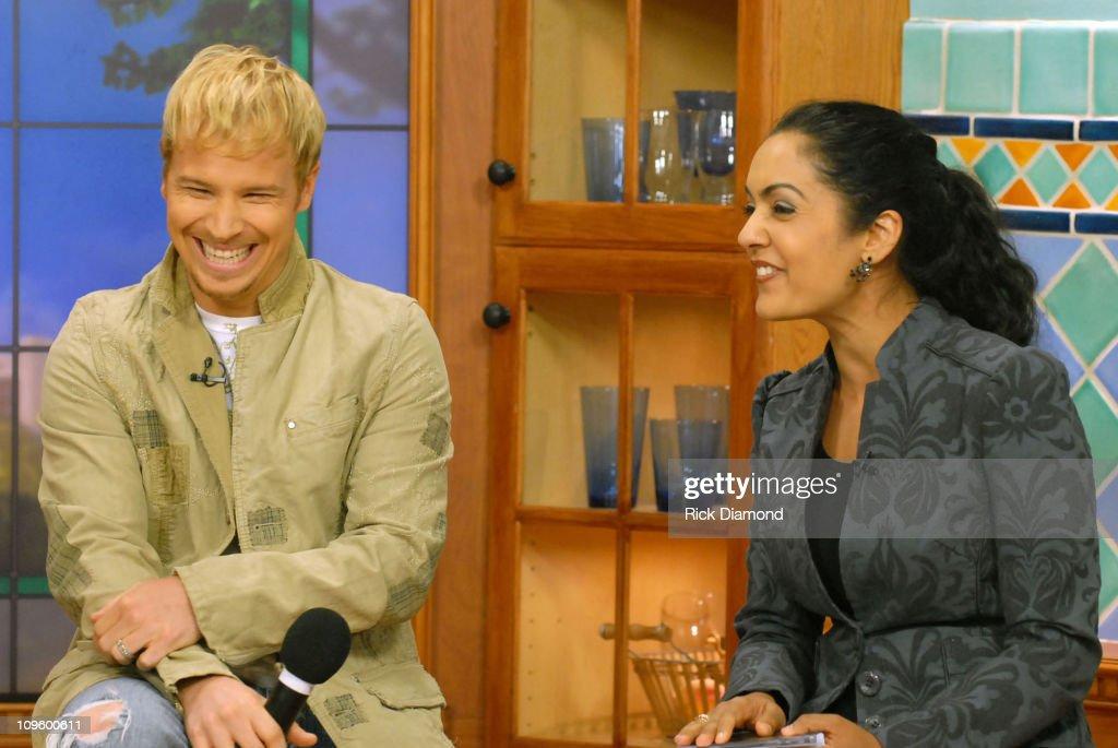 Brian Littrell and Good Day Atlanta Host, Suchita Vadlamani