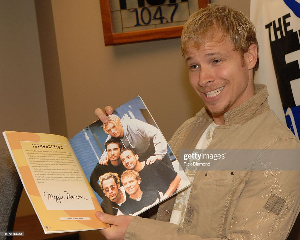 Brian littrell visits 104 7 the fish to promote his album for The fish radio