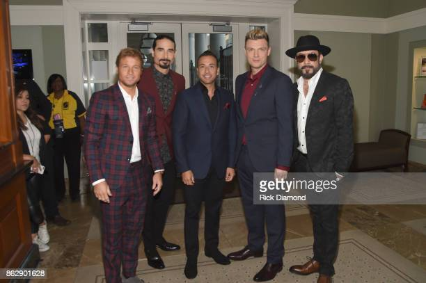 Brian Littrell Kevin Richardson Howie Dorough Nick Carter and AJ McLean of the Backstreet Boys arrive at the 2017 CMT Artists Of The Year on October...
