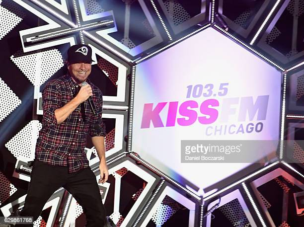 Brian Littrell of Backstreet Boys performs onstage during 1035 KISS FM's Jingle Ball 2016 at Allstate Arena on December 14 2016 in Rosemont Illinois