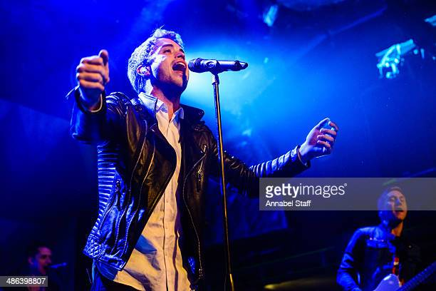 Brian Logan Dales of The Summer Set performs on stage at O2 Islington Academy on April 23 2014 in London United Kingdom
