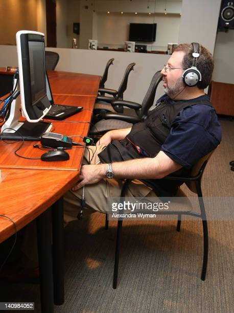 Brian Lowry getting a Variety Biometric Screening Test on September 30 2009 in Los Angeles California