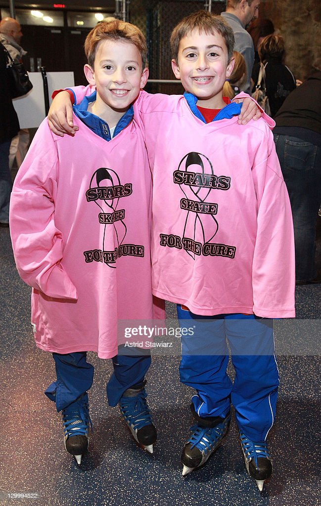 Brian Maloney and Jordan Mazzaro attend the 2011 Breast Cancer Skate-a-Thon at the Abe Stark Arena on October 22, 2011 in New York City.