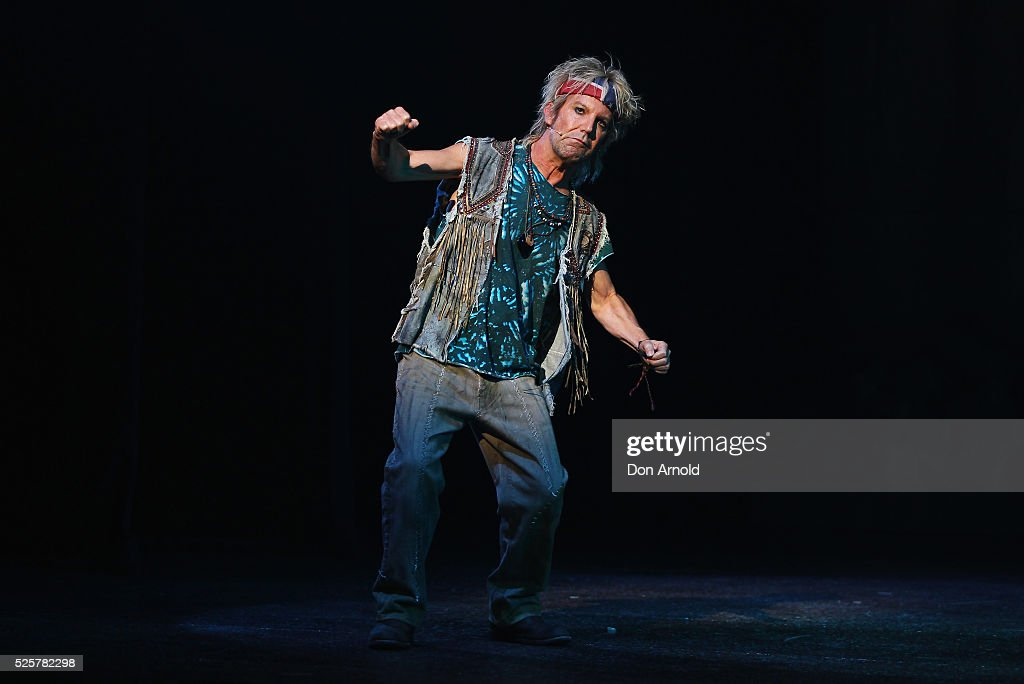 Brian Mannix plays the role of Buddy during the 'We Will Rock You' media call at Lyric Theatre, Star City on April 29, 2016 in Sydney, Australia.