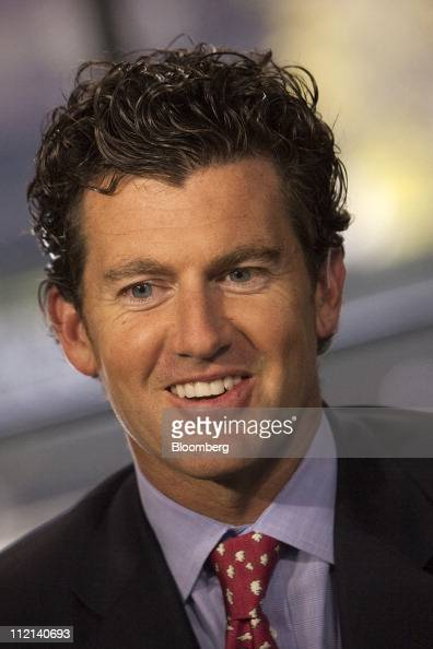 Brian Marshall analyst for Gleacher Co Securities smiles during a Bloomberg West television interview in San Francisco California US on Tuesday April...