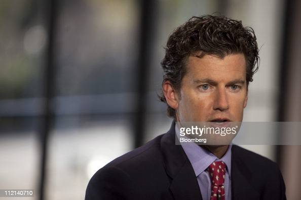 Brian Marshall analyst for Gleacher Co Securities speaks during a Bloomberg West television interview in San Francisco California US on Tuesday April...