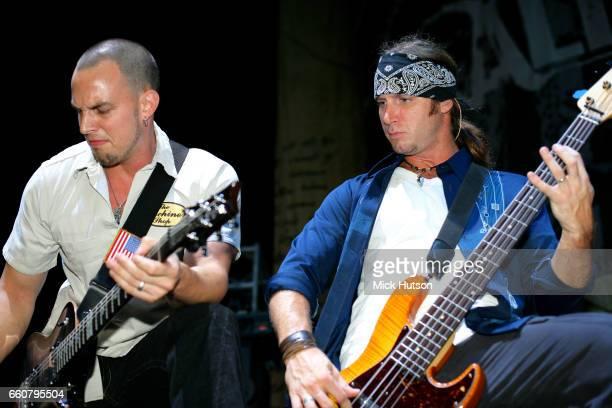 Brian Marshall and Mark Tremonti of Alter Bridge Download Festival Donington United Kingdom 11th September 2005