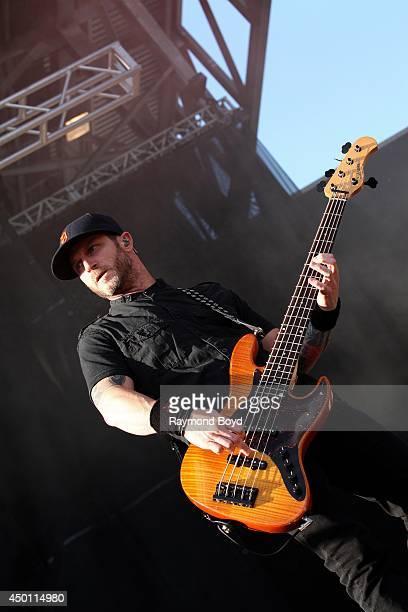 Brian Marshall from Alter Bridge performs at Columbus Crew Stadium on May 18 2014 in Columbus Ohio