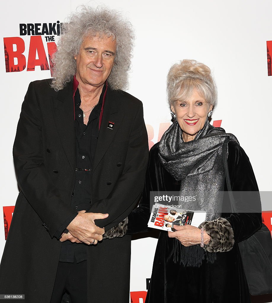 <a gi-track='captionPersonalityLinkClicked' href=/galleries/search?phrase=Brian+May&family=editorial&specificpeople=158059 ng-click='$event.stopPropagation()'>Brian May</a> and <a gi-track='captionPersonalityLinkClicked' href=/galleries/search?phrase=Anita+Dobson&family=editorial&specificpeople=215280 ng-click='$event.stopPropagation()'>Anita Dobson</a> attend the UK Gala Screening of 'Breaking the Bank' at Empire Leicester Square on May 31, 2016 in London, England.