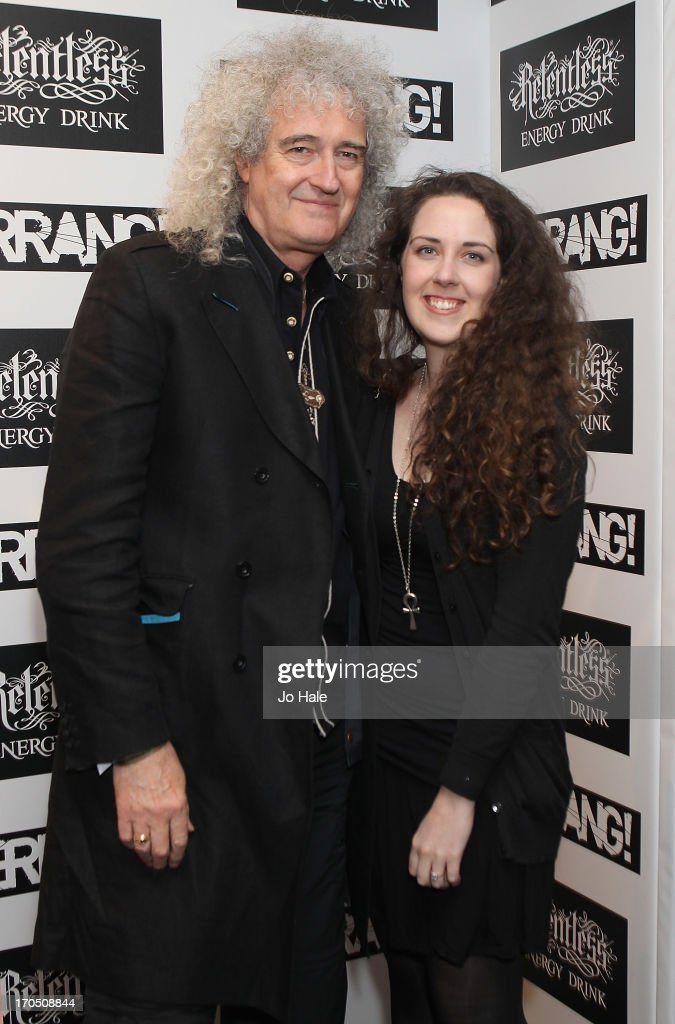 <a gi-track='captionPersonalityLinkClicked' href=/galleries/search?phrase=Brian+May&family=editorial&specificpeople=158059 ng-click='$event.stopPropagation()'>Brian May</a> and Emily May attend The Kerrang! Awards at the Troxy on June 13, 2013 in London, England.