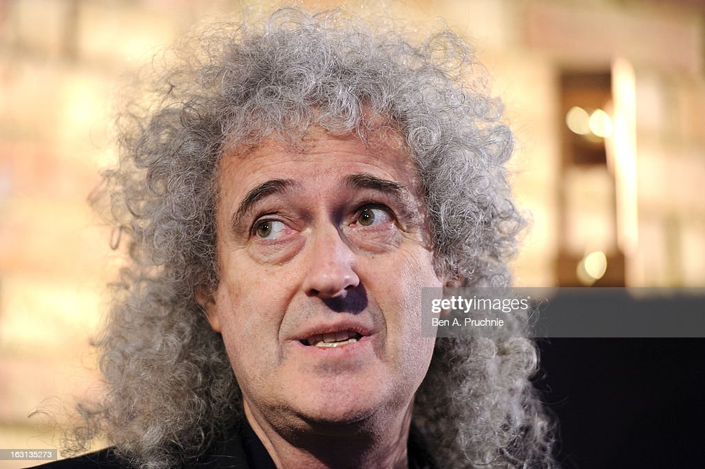 <a gi-track='captionPersonalityLinkClicked' href=/galleries/search?phrase=Brian+May&family=editorial&specificpeople=158059 ng-click='$event.stopPropagation()'>Brian May</a> attends a photocall as Queen are awarded The Heritage award at Imperial College London on March 5, 2013 in London, England.