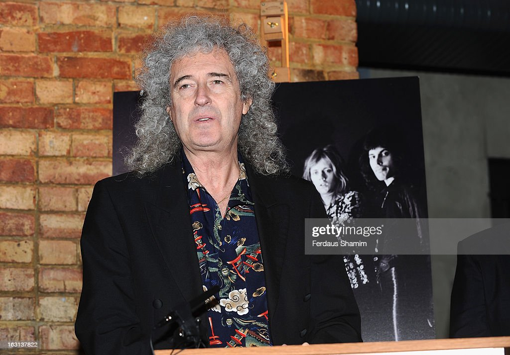 <a gi-track='captionPersonalityLinkClicked' href=/galleries/search?phrase=Brian+May&family=editorial&specificpeople=158059 ng-click='$event.stopPropagation()'>Brian May</a> attends a photocall as Queen are awards The Heritage award at Imperial College London on March 5, 2013 in London, England.