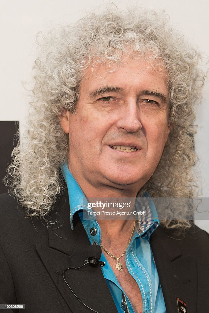 <a gi-track='captionPersonalityLinkClicked' href=/galleries/search?phrase=Brian+May&family=editorial&specificpeople=158059 ng-click='$event.stopPropagation()'>Brian May</a> attends the <a gi-track='captionPersonalityLinkClicked' href=/galleries/search?phrase=Queen+-+Band&family=editorial&specificpeople=221314 ng-click='$event.stopPropagation()'>Queen</a> and Adam Lambert photocall at Ritz Carlton on December 11, 2014 in Berlin, Germany.