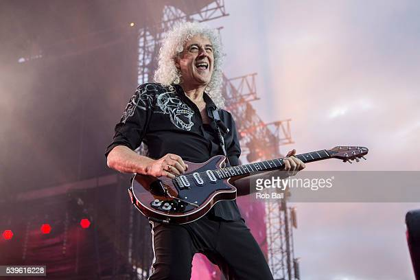 Brian May from Queen performs at the Isle Of Wight Festival 2016 at Seaclose Park on June 12 2016 in Newport Isle of Wight