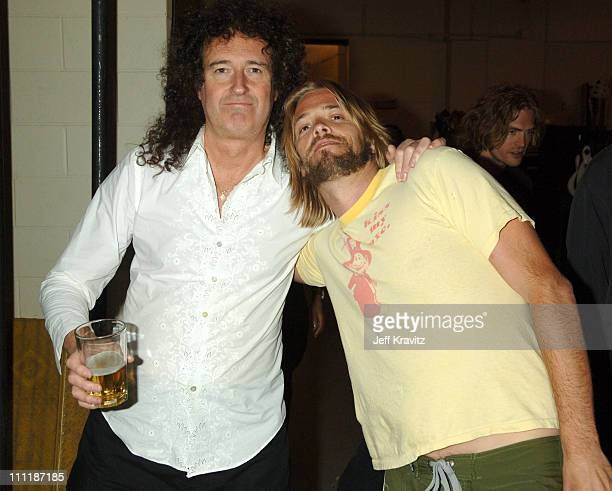 Brian May of Queen and Taylor Hawkins of the Foo Fighters
