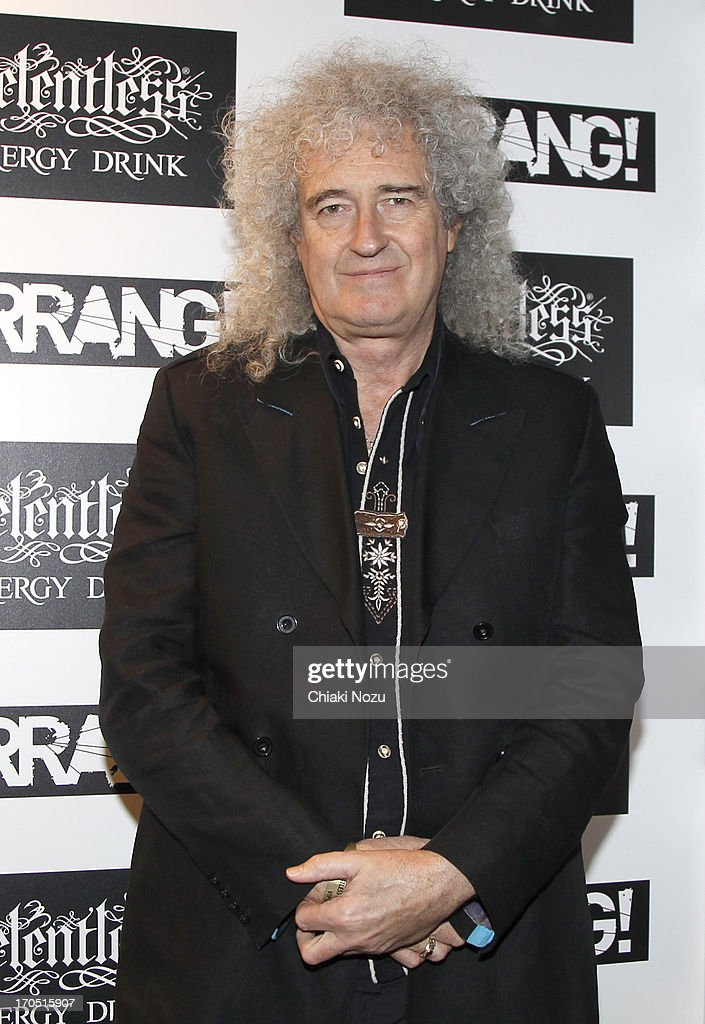 <a gi-track='captionPersonalityLinkClicked' href=/galleries/search?phrase=Brian+May&family=editorial&specificpeople=158059 ng-click='$event.stopPropagation()'>Brian May</a> of Queen attends The Kerrang! Awards at the Troxy on June 13, 2013 in London, England.