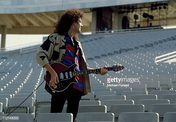 Brian May of Queen during a sound check Seville Spain 1991