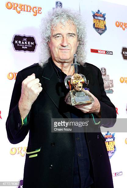 Brian May of Queen wins Riff Lord Award at the Metal Hammer Golden Gods awards on June 15 2015 in London England