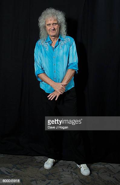 Brian May poses backstage at the Daily Mirror and RSPCA Animal Hero Awards at Grosvenor House on September 7 2016 in London England