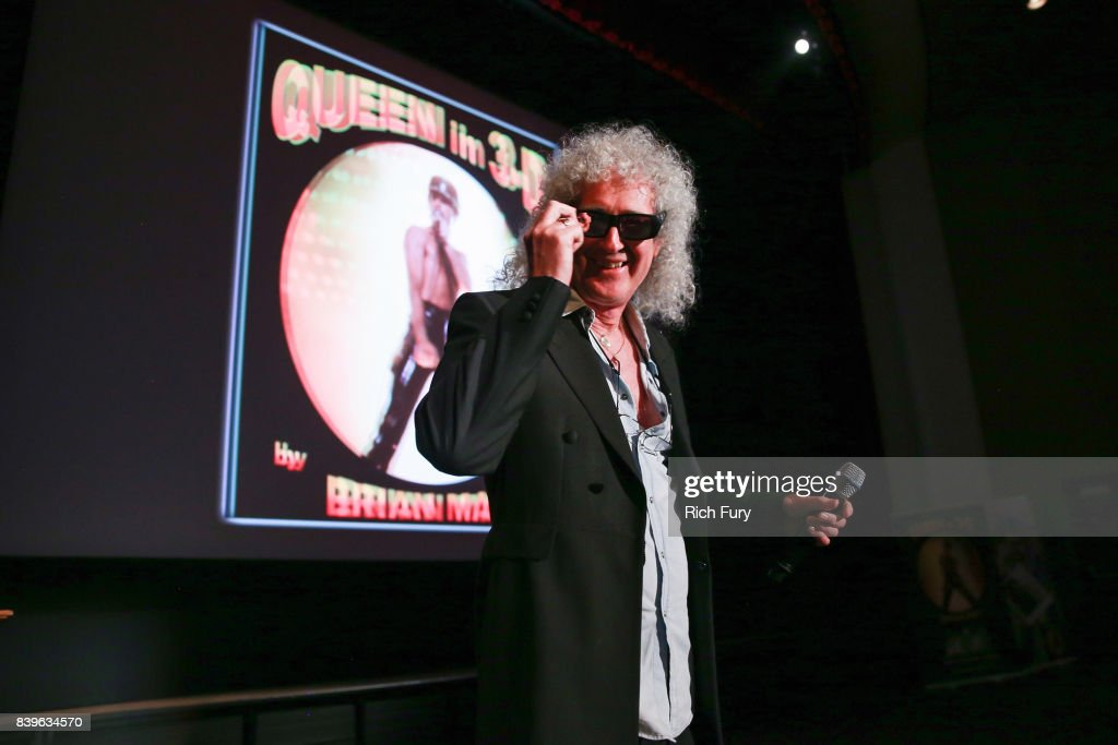 Brian May presents his new book 'Queen in 3-D' at Disney Studios on August 25, 2017 in Burbank, California.