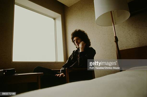 Brian May relaxing in his hotel room Tokyo March 1976