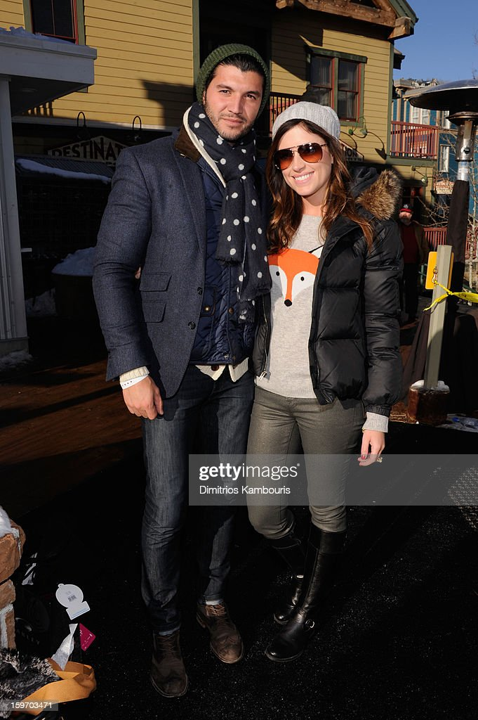 Brian Mazza and Chloe Melas attend Day 1 of Village at The Lift 2013 on January 18, 2013 in Park City, Utah.
