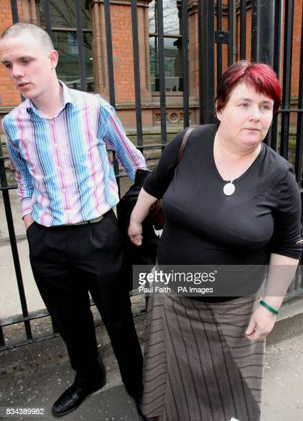 Brian McAlinden the brother of Rory McAlinden and Mary Steele the mother of Clare Steele speak to the press after the inquest into the deaths of Rory...