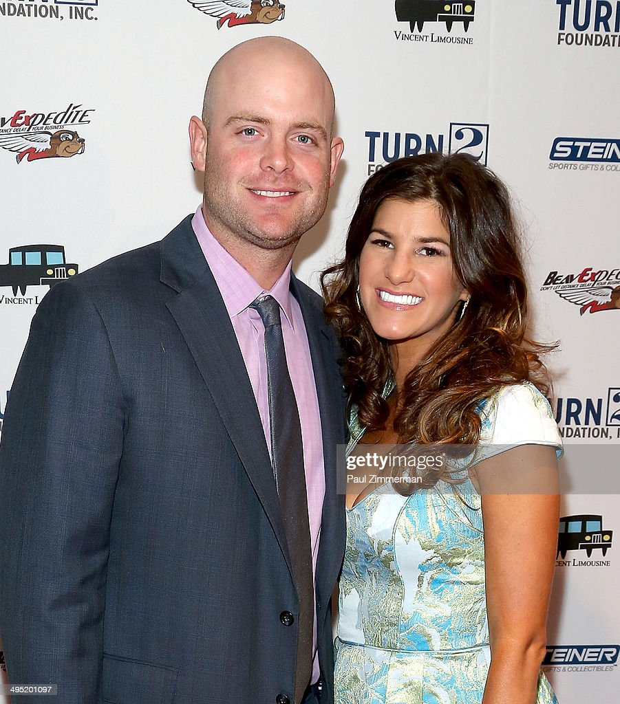 <a gi-track='captionPersonalityLinkClicked' href=/galleries/search?phrase=Brian+McCann+-+Baseball+Player&family=editorial&specificpeople=593065 ng-click='$event.stopPropagation()'>Brian McCann</a> (L) and Ashley McCann attend the Derek Jeter 18th Annual Turn 2 Foundation dinner at Sheraton New York Times Square on June 1, 2014 in New York City.