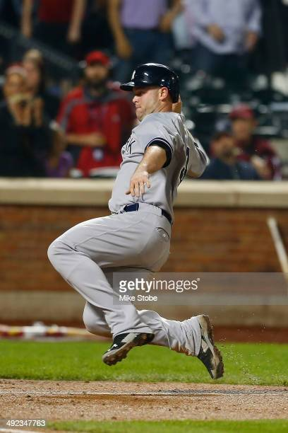 Brian McCann of the New York Yankees in action against the New York Mets on May 15 2014 at Citi Field in the Flushing neighborhood of the Queens...