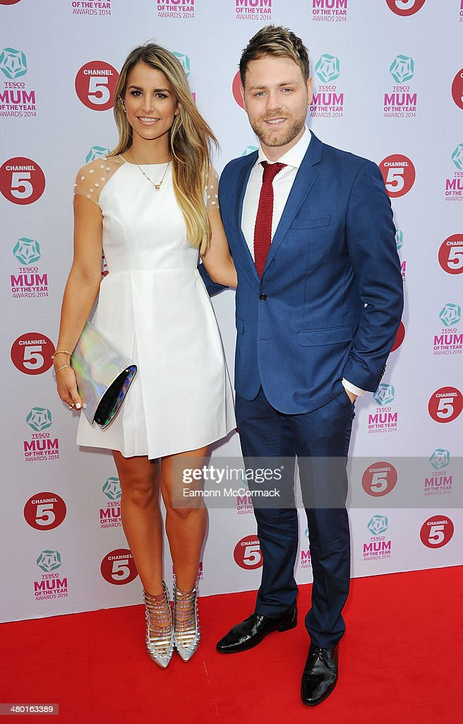 Brian McFadden and Vogue Williams attend the Tesco Mum of the Year awards at The Savoy Hotel on March 23, 2014 in London, England.