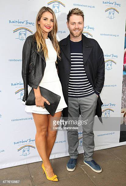 Brian McFadden and Vogue Williams attend the Trust In Fashion Fundraiser in aid of The Rainbow Trust at The Savoy Hotel on March 10 2014 in London...