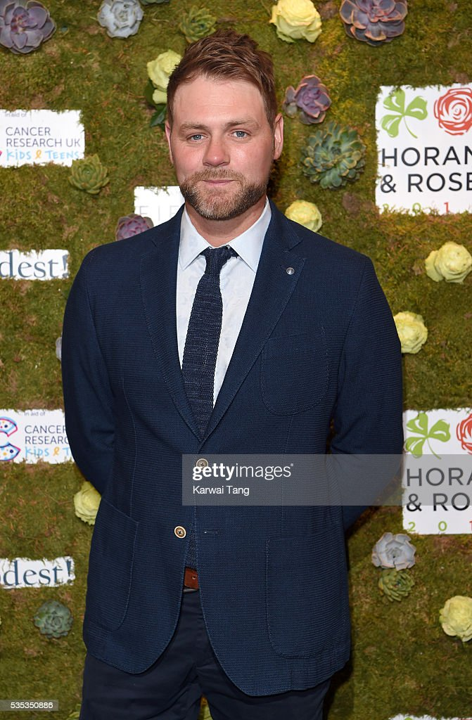 <a gi-track='captionPersonalityLinkClicked' href=/galleries/search?phrase=Brian+McFadden+-+Chanteur&family=editorial&specificpeople=14999715 ng-click='$event.stopPropagation()'>Brian McFadden</a> arrives for The Horan And Rose event at The Grove on May 29, 2016 in Watford, England.