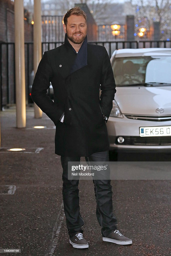 Brian Mcfadden seen at the ITV Studios on January 7, 2013 in London, England.