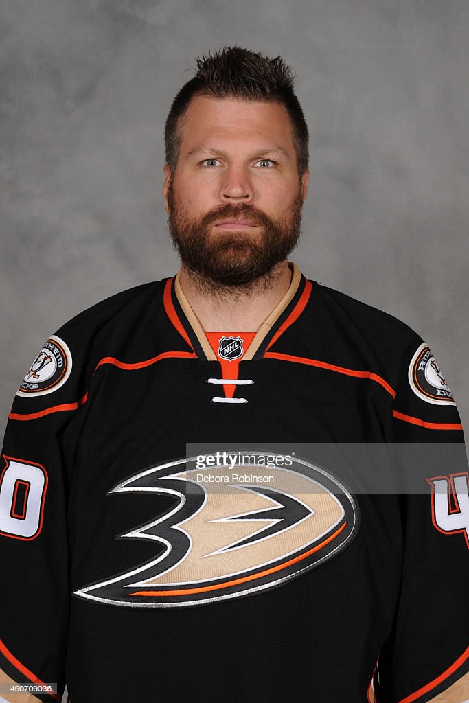 Brian McGrattan of the Anaheim Ducks poses for his official headshot for the 20152016 season on September 10 2015 at Honda Center in Anaheim...