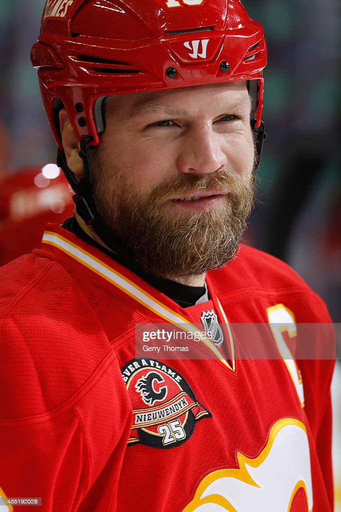 Brian McGrattan of the Calgary Flames in a game against the Los Angeles Kings at Scotiabank Saddledome on March 10 2014 in Calgary Alberta Canada