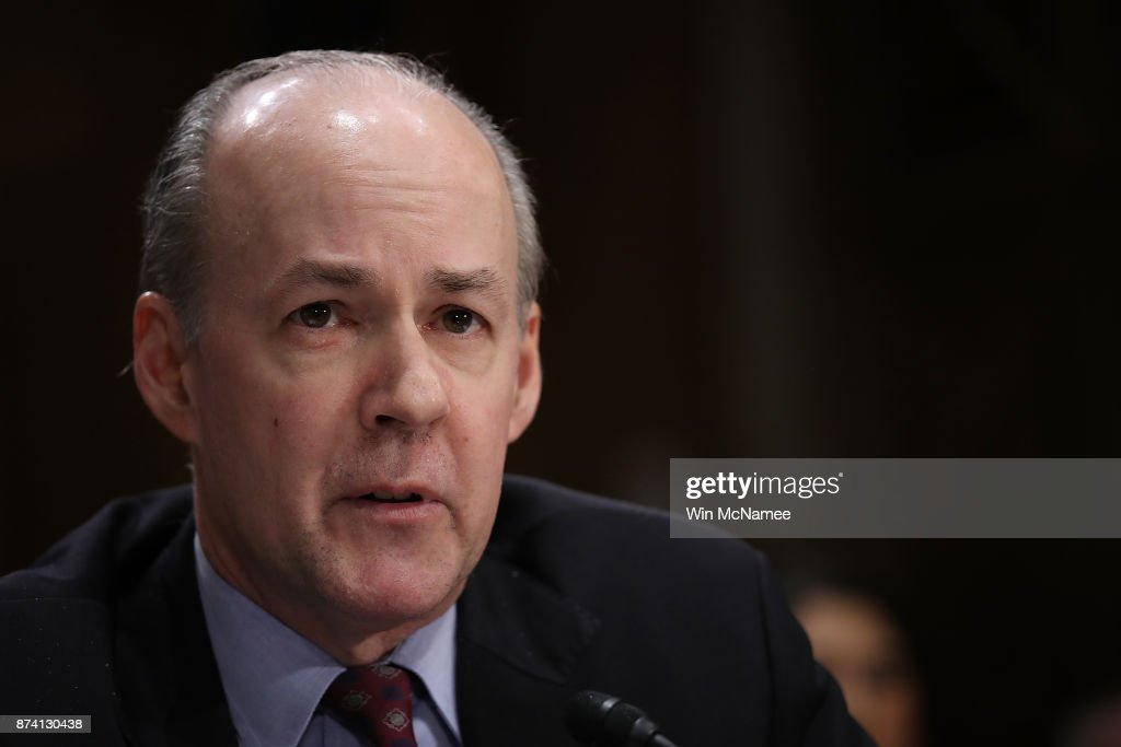 Brian McKeon, former acting Defense undersecretary for policy, testifies before the Senate Foreign Relations Committee November 14, 2017 in Washington, DC. The committee heard testimony on the 'Authority to Order the Use of Nuclear Weapons.'
