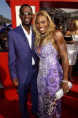 Brian McKnight and Serena Williams during 2002 ESPY Awards Arrivals at The Kodak Theater in Hollywood California United States
