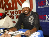 Brian McKnight during Brian McKnight signs copies of his new CD 10 December 8 2006 at JR Music and Computer World in New York City New York United...