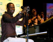 Brian McKnight Performs at Oxnard High School during Grammy Signature Schools Enterprise Award Ceremony in Oxnard California United States