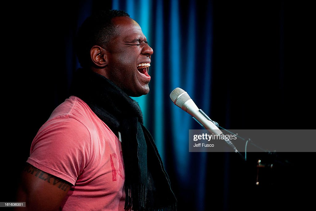 Brian McKnight performs at the WDAS iHeart Performance Theater on February 13, 2013 in Bala Cynwyd, Pennsylvania.