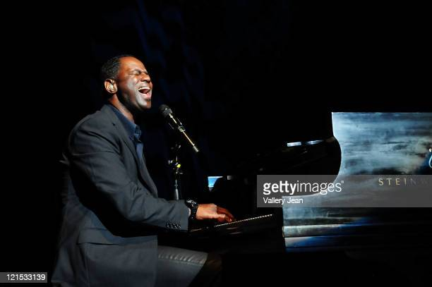 Brian McKnight performs during his Just Me Tour presented by Hot105 at Fillmore Miami Beach on August 19 2011 in Miami Beach Florida