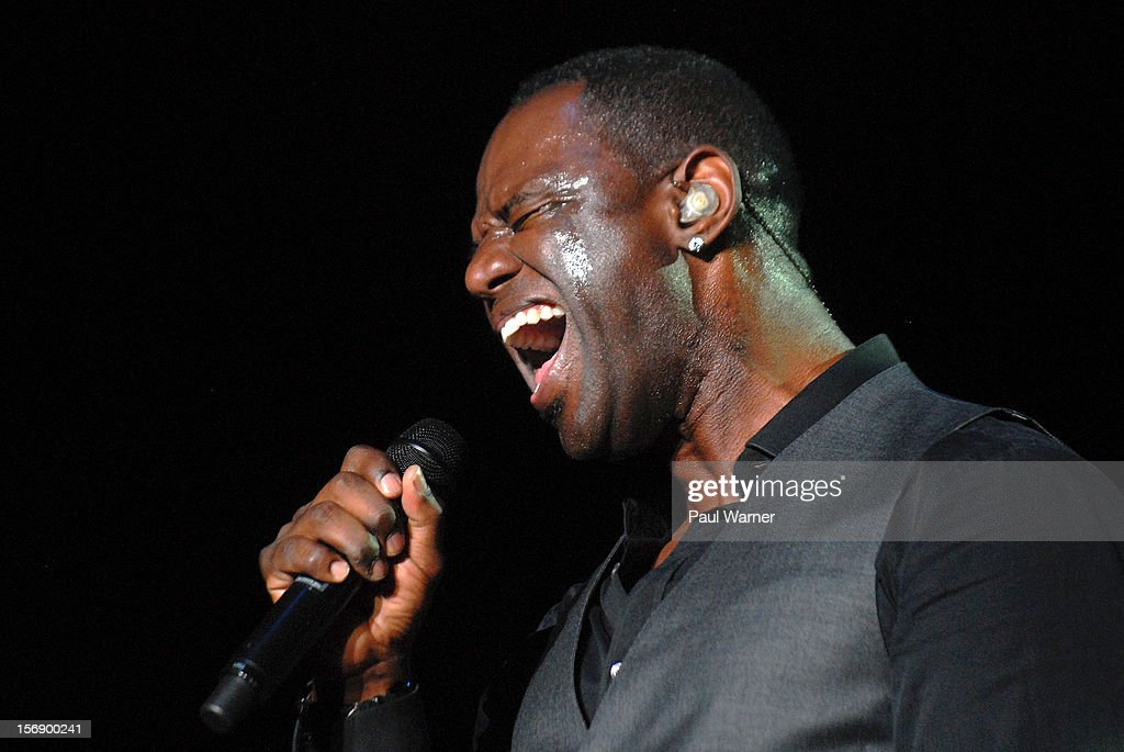 Brian McKnight performs in concert at Masonic Temple Theater on November 23, 2012 in Detroit, United States.