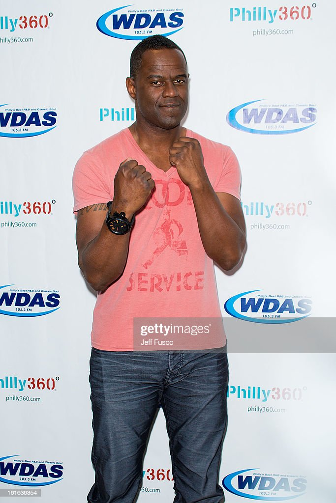 Brian McKnight poses at the WDAS iHeart Performance Theater on February 13, 2013 in Bala Cynwyd, Pennsylvania.