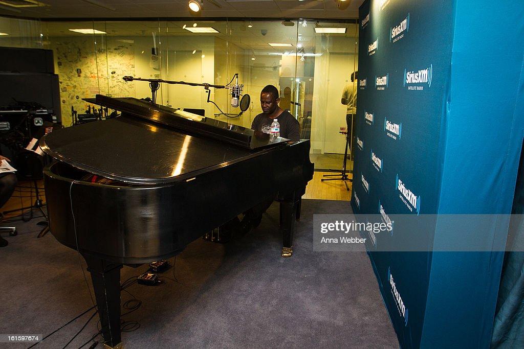 Brian McKnight visits SiriusXM Studios on February 12, 2013 in New York City.
