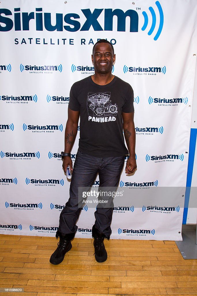 Brian McKnight visits SiriusXM Studios on February 12, 2013 in New York City.