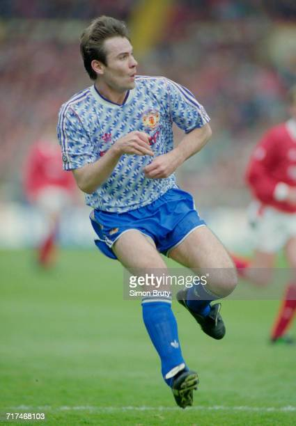 Brian McLair of Manchester Utd during their Rumbelows Football League Cup Final match against Nottingham Forest on 12 April 1992 at Wembley Stadium...