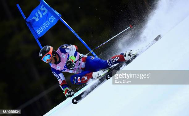 Brian McLaughlin of the United States competes in the first run of the Birds of Prey World Cup Giant Slalom race on December 3 2017 in Beaver Creek...